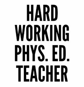 Hard Working Physical Education Teacher Water Bottle