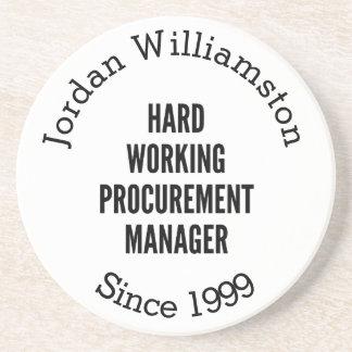 Hard Working Procurement Manager Drink Coaster
