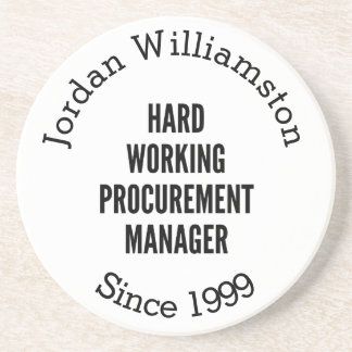 Hard Working Procurement Manager Drink Coasters