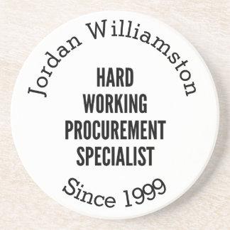 Hard Working Procurement Specialist Drink Coaster