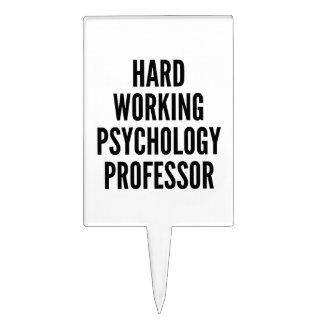 Hard Working Psychology Professor Cake Toppers