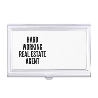 Hard Working Real Estate Agent Case For Business Cards