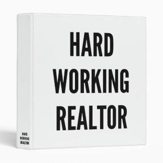Hard Working Realtor Binder