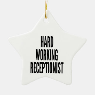 Hard Working Receptionist Ceramic Ornament