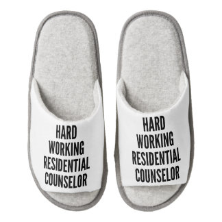 Hard Working Residential Counselor Pair Of Open Toe Slippers