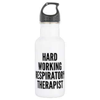 Hard Working Respiratory Therapist Stainless Steel Water Bottle