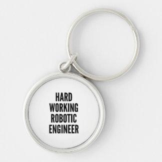 Hard Working Robotic Engineer Keychain