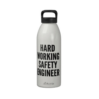 Hard Working Safety Engineer Reusable Water Bottles
