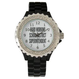 Hard Working School District Superintendent Wrist Watches