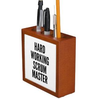 Hard Working Scrum Master Pencil/Pen Holder
