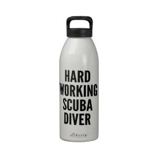 Hard Working Scuba Diver Water Bottle