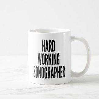 Hard Working Sonographer Coffee Mug