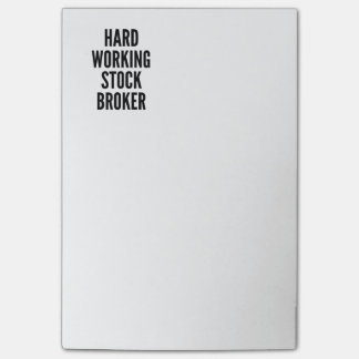 Hard Working Stock Broker Post-it® Notes