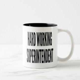 Hard Working Superintendent Two-Tone Coffee Mug