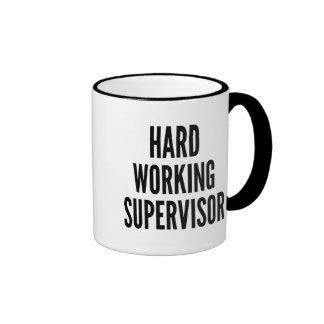 Hard Working Supervisor Ringer Mug