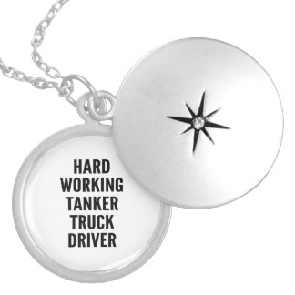 Hard Working Tanker Truck Driver Locket Necklace