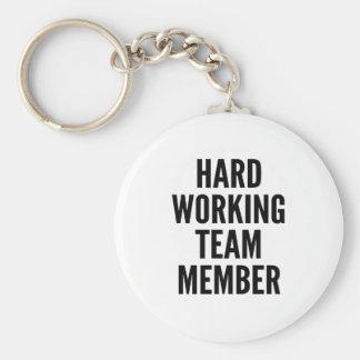 Hard Working Team Member Keychain
