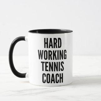 Hard Working Tennis Coach Mug