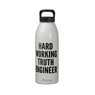 Hard Working Truth Engineer Water Bottle