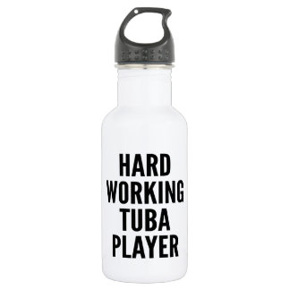 Hard Working Tuba Player Water Bottle