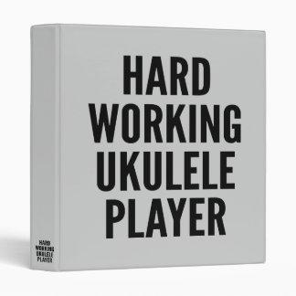 Hard Working Ukulele Player Binder