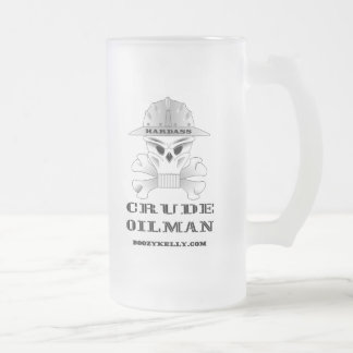 Hardass Crude Oilman,Beer Glass,Oil Frosted Glass Beer Mug