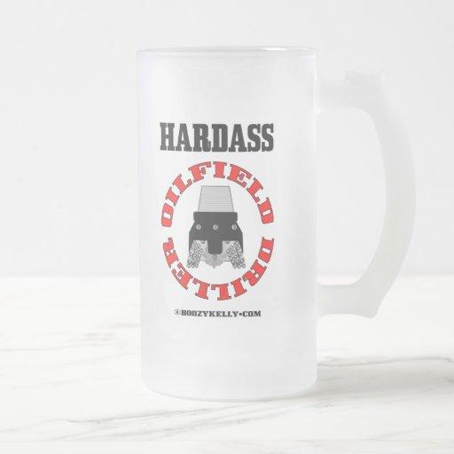 Hardass Driller,Rock Bit Beer Glass,Oil Rigs,Oil 16 Oz Frosted Glass Beer Mug