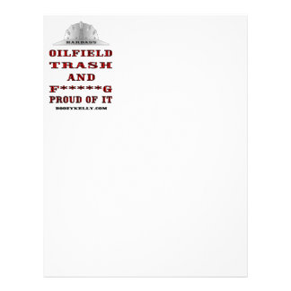 Hardass Oil Field Trash,Letterhead,Oil Patch,Rig Letterhead