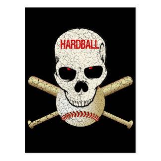 HARDBALL - CRACKED AND AGED POSTCARD
