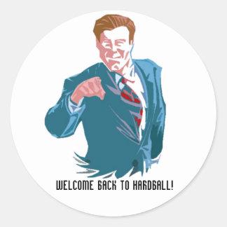 Hardball, Welcome Back To Hardball! Classic Round Sticker