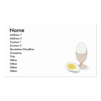 hardboiled egg business card