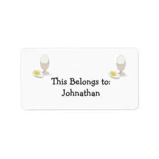 hardboiled egg personalized address label