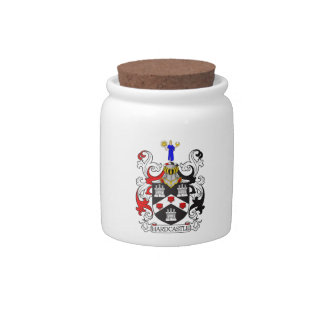 Hardcastle Coat of Arms I Candy Jars