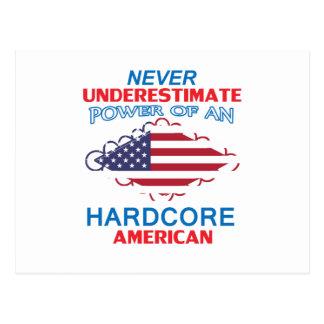 hardcore America Postcard