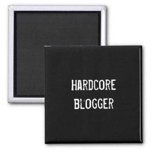 Hardcore blogger 2 inch square magnet
