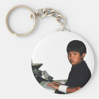 Hardcore Coder with Wristband Keychain