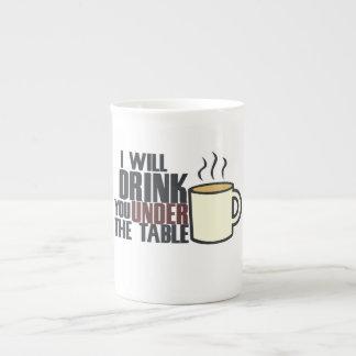 Hardcore coffee drinker bone china mug