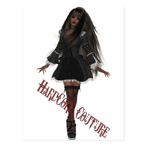 HardCore Couture Gothic Chic 5 Postcard
