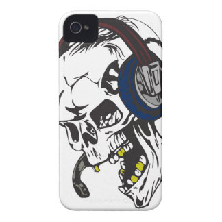 hardcore dee jay skull iPhone 4 Case-Mate case