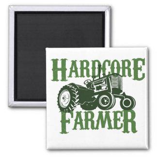 Hardcore Farmer 2 Inch Square Magnet
