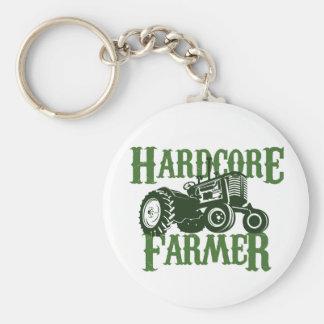Hardcore Farmer Basic Round Button Keychain