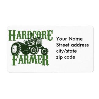 Hardcore Farmer Custom Shipping Label