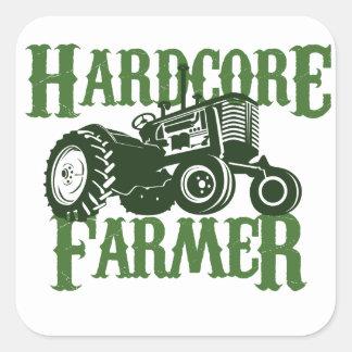 Hardcore Farmer Square Sticker