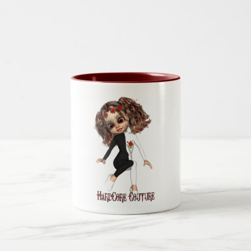 HardCore Girly - Hardcore Couture Two-Tone Coffee Mug