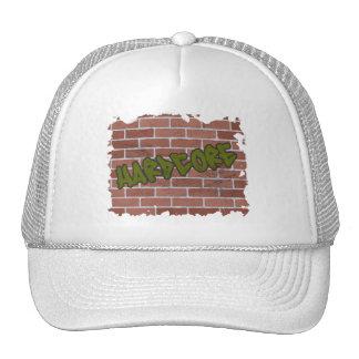 hardcore graffiti  design mesh hat
