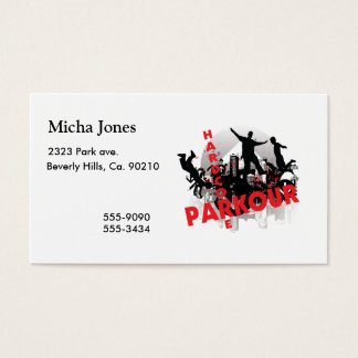 Hardcore Parkour Grunge City Business Card
