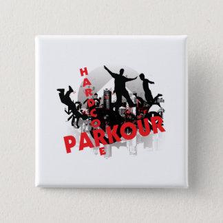 Hardcore Parkour Grunge City Button