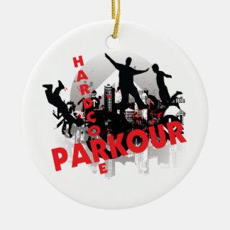 Hardcore Parkour Grunge City Ceramic Ornament