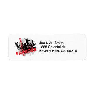 Hardcore Parkour Grunge City Custom Return Address Label