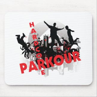 Hardcore Parkour Grunge City Mouse Pad